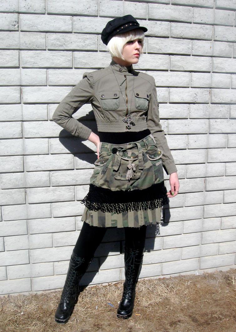 Camouflage Skirt by phantomonex