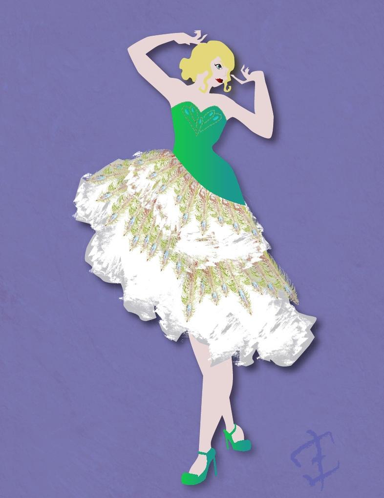 Peacock Dress Design by phantomonex