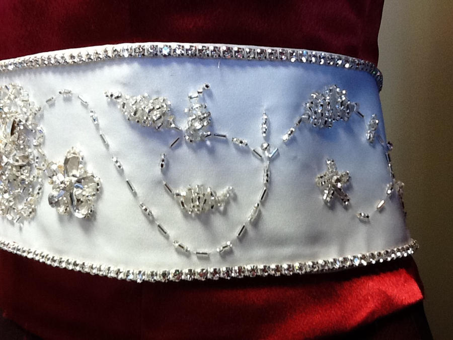 Beaded Wedding Belt:5 by phantomonex