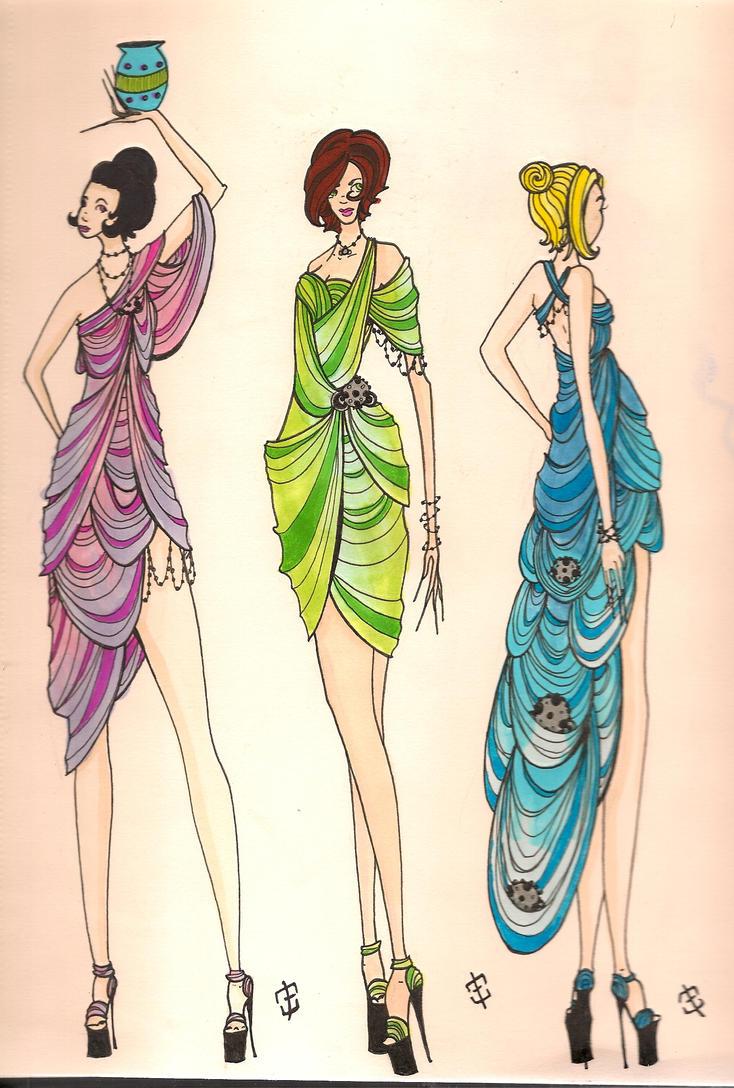 Greek Inspired Dress by phantomonex