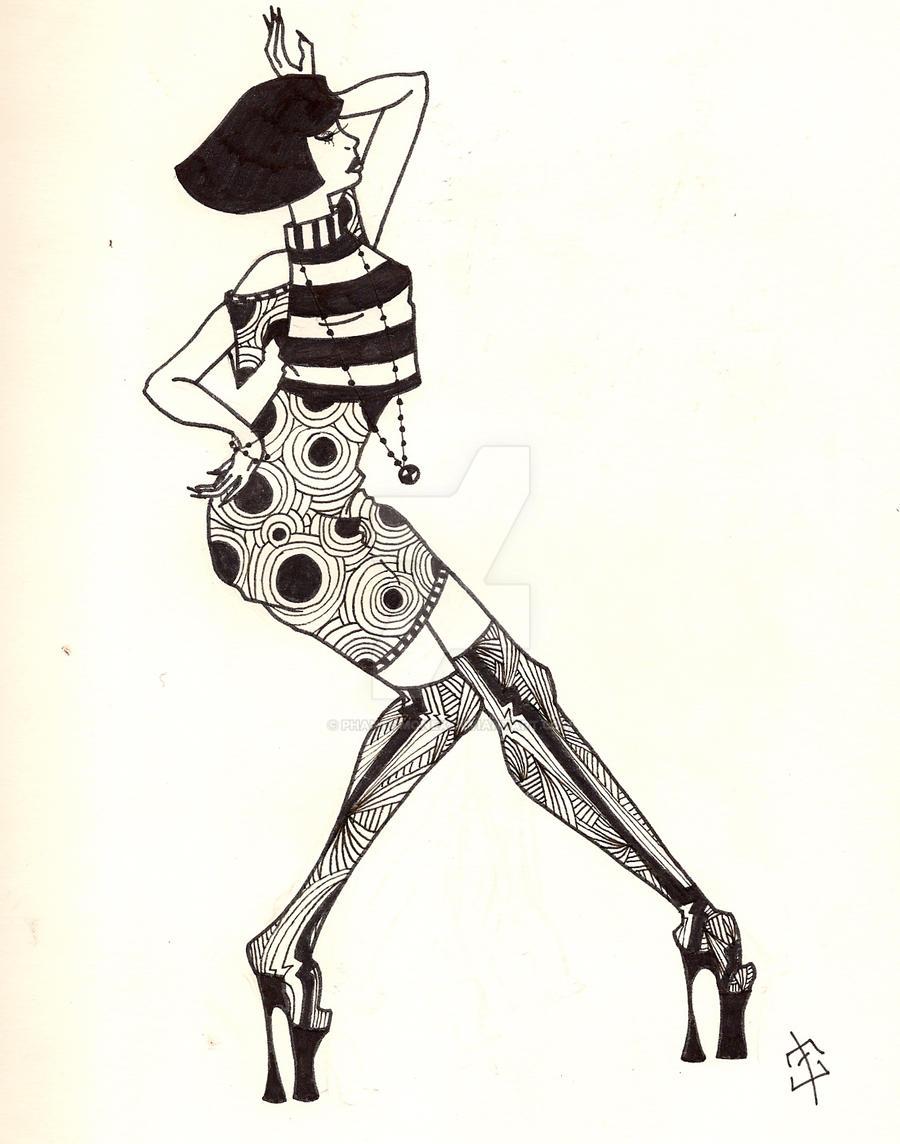 Retro Circle Dress Design by phantomonex