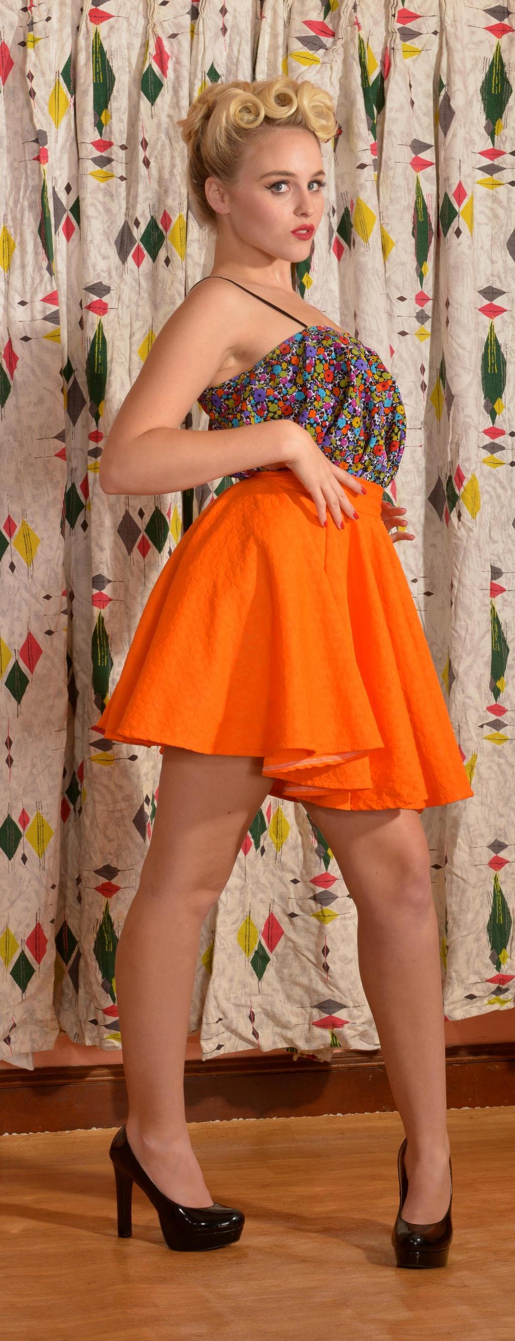 Orange Skirt by phantomonex