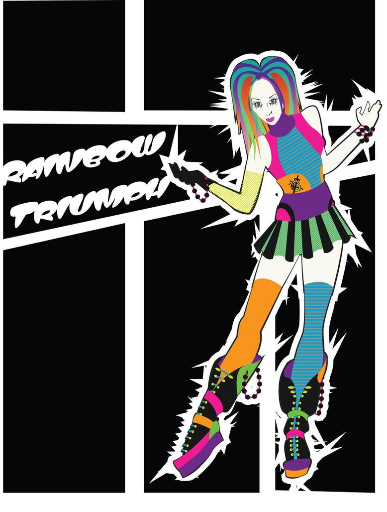 Costume Design: Soon I Will Be Invincible: Rainbow by phantomonex