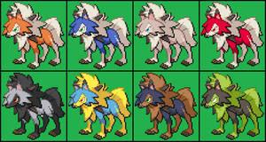Super Smash Bros.: Lycanroc's Alternate Colors