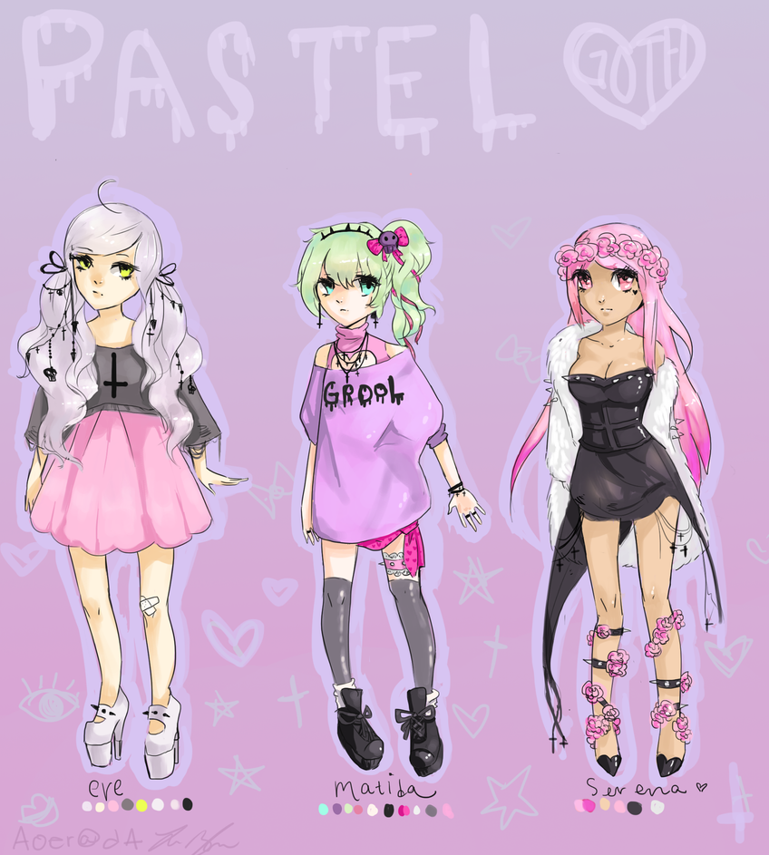 + Pastel Goth Adopts + OPEN + 7$ by Aoer on DeviantArt