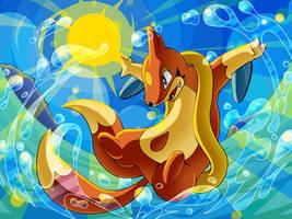 :Splish Splash: Floatzel by endless-whispers