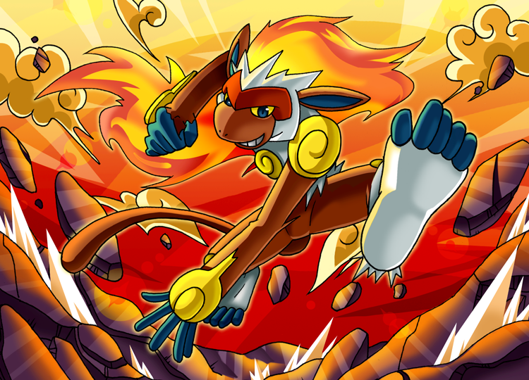 Imagenes de Pokémon [Megapost] Parte 1 _All_Fired_Up__Infernape_by_endless_whispers