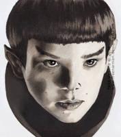 Two Worlds - Spock by FreeNarnian