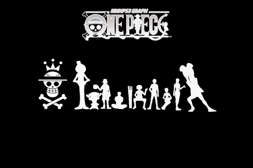 One Piece - Wallpaper Black and White