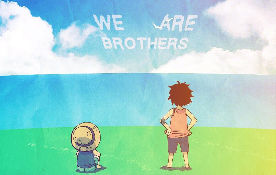 brothers luffy and ace wallpaper - photo #3