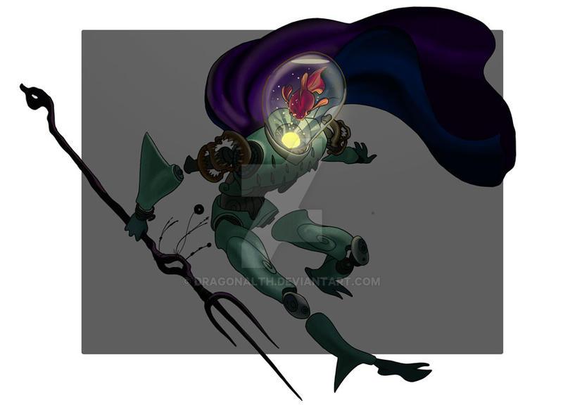 Fish Knight by dragonalth