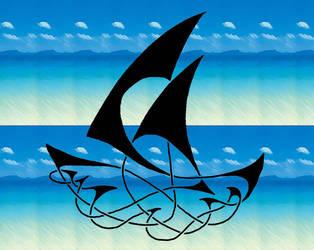 Boat Knot with background by KuroFushicho