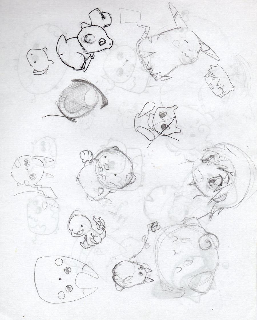 ensayo de pokemon varios by hikuxan