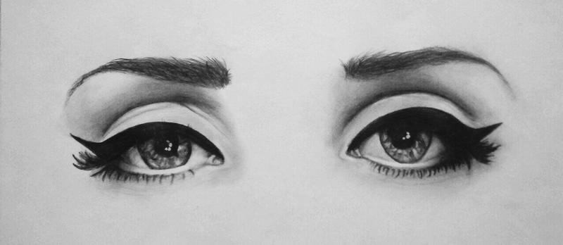 how to draw beautiful eye shine