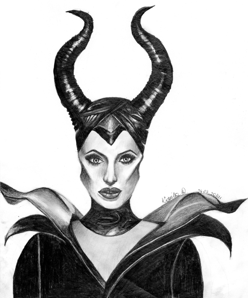 Maleficent Angelina Jolie by iKammy