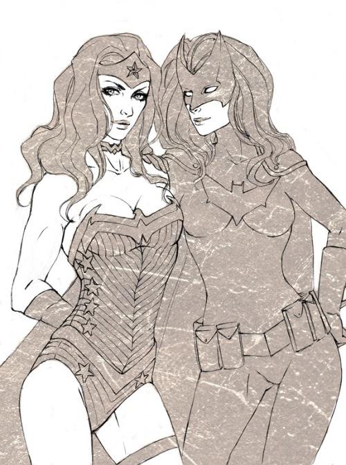 WonderWoman and BatWoman by RoksiL