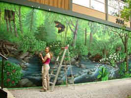 Hyde Creek Nature Murals by Artist-Kim-Hunter