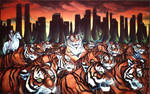 Tigers in New York Painting
