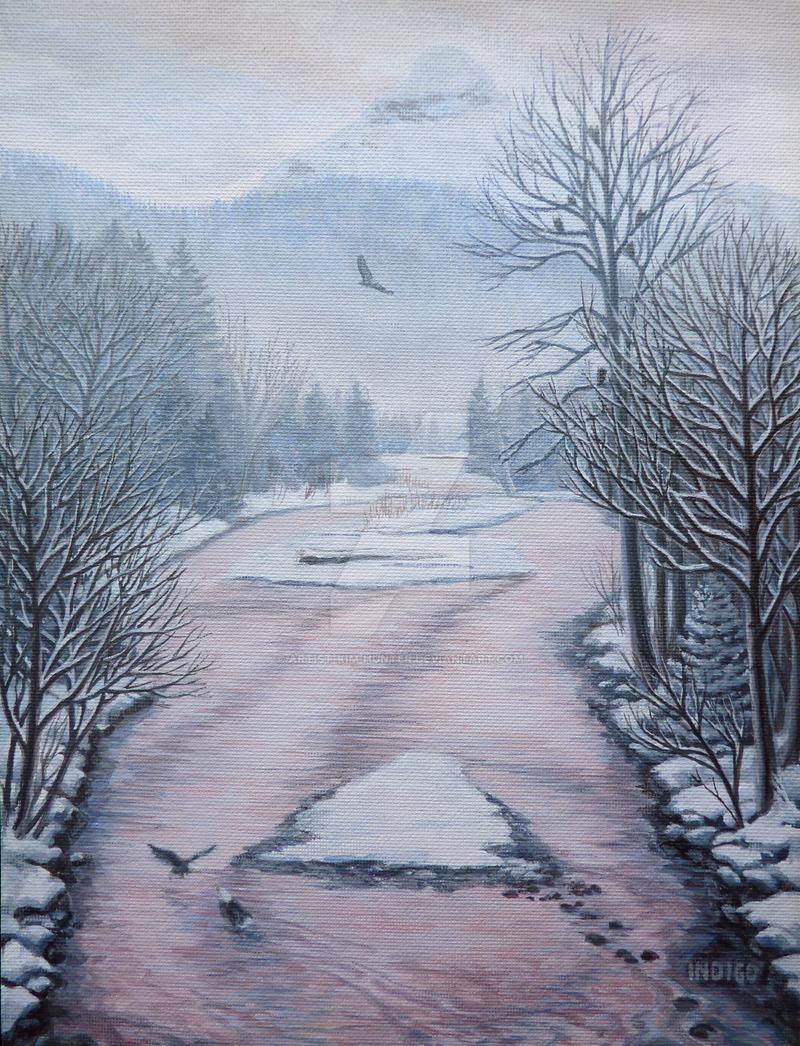Nine Eagles on the Cheekamus by Artist-Kim-Hunter