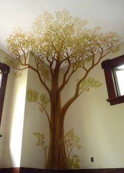 Tree Mural Child's Bedroom