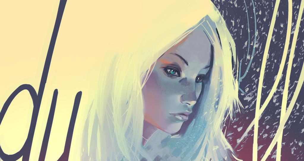 cheveux blanc dans la neige by Samkaat