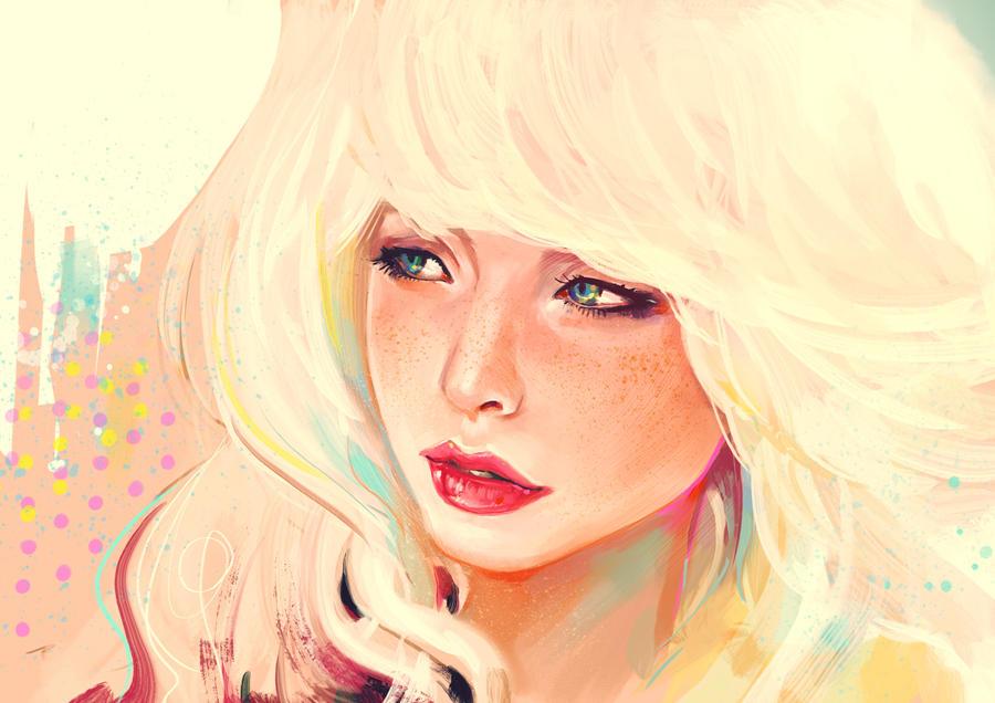 meuf blonde by Samkaat