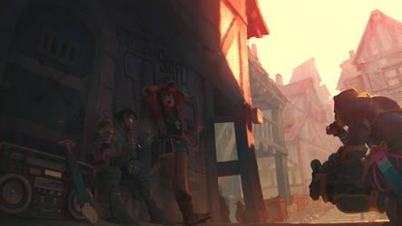 chevaliers du ghetto by Samkaat