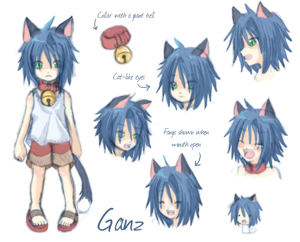 Anime Characters Reference : Character reference ganz by laudine on deviantart