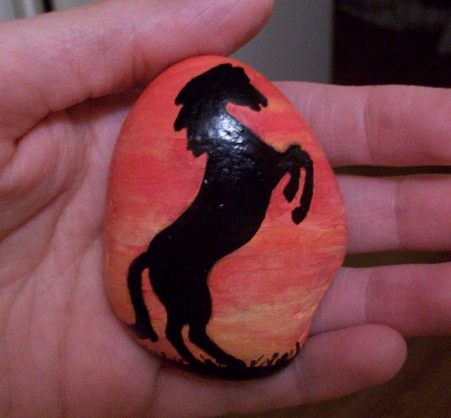 Paint Horse Silhouette Horse Silhouette Painted Onto