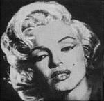 Marilyn Monroe painted onto mini canvas