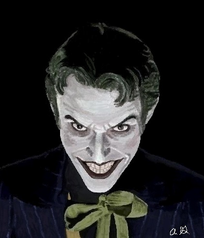 Joker (Anthony Misiano) in MS Paint by TinyAna