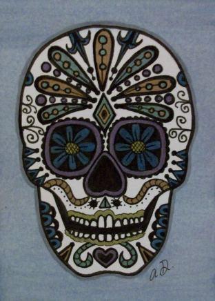 Sugar Skull on ATC by TinyAna