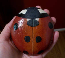 Rock painted as ladybug by TinyAna