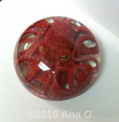 Red Octopus Paperweight by TinyAna