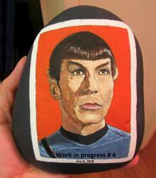 WORK IN PROGRESS: Spock on a rock by TinyAna