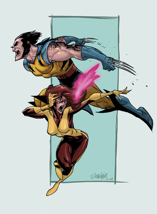 Wolvie and Jeanie colored by RyanOdagawa