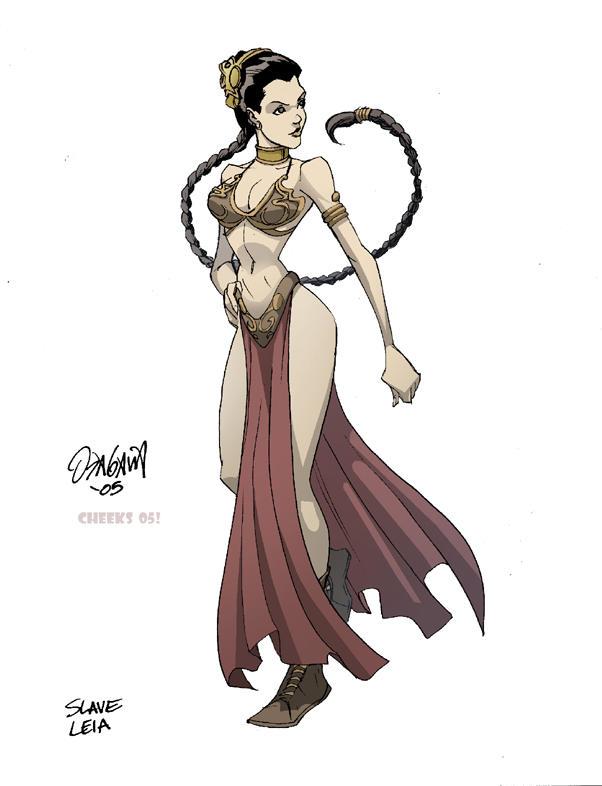 dessins et affiches star wars - Page 16 Slave_Leia_color_by_rmo120