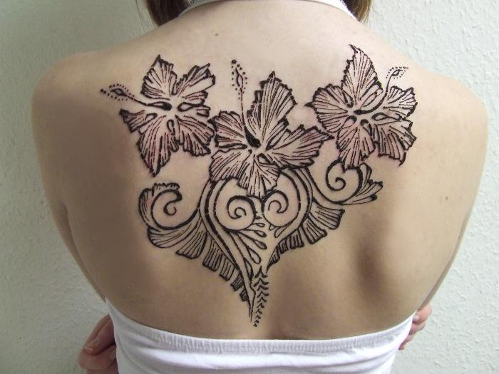 Mehndi Tattoo On Back : Anna's henna tattoo by martucia on deviantart