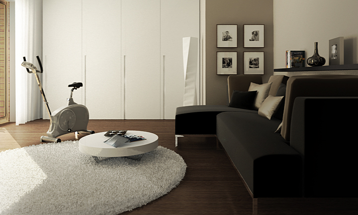 interior cinema4d vray. Black Bedroom Furniture Sets. Home Design Ideas
