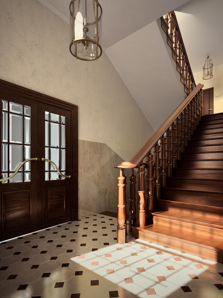 Classic staircase by nentamer on DeviantArt