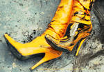 yellow high heels by thord9t