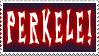 PERKELE -stamp
