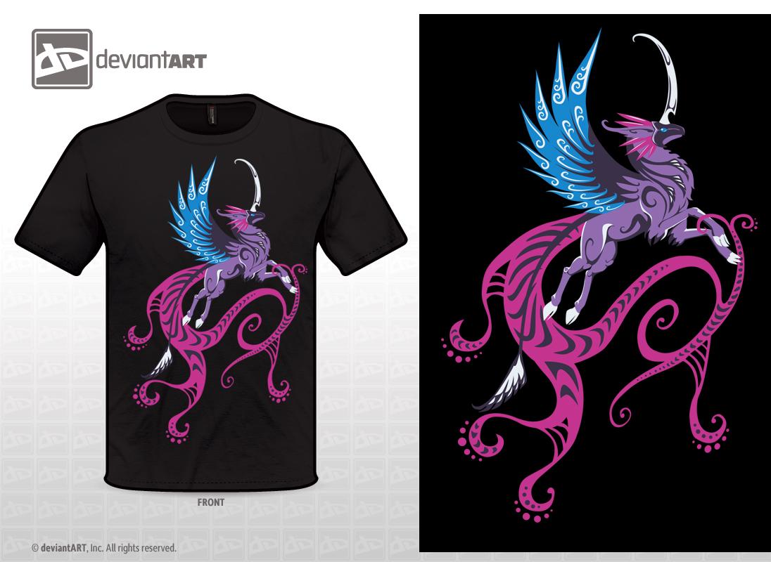 Purple Qilin T-shirt V.2 by Sysirauta