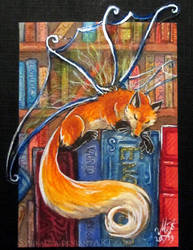 ACEO Bookfox by Sysirauta