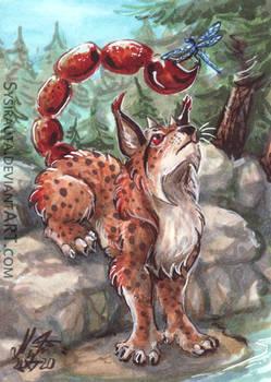 ACEO Lynx Scorpion Dragon Fly