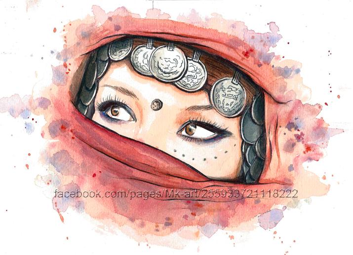 Arabic woman by Mikyechelon