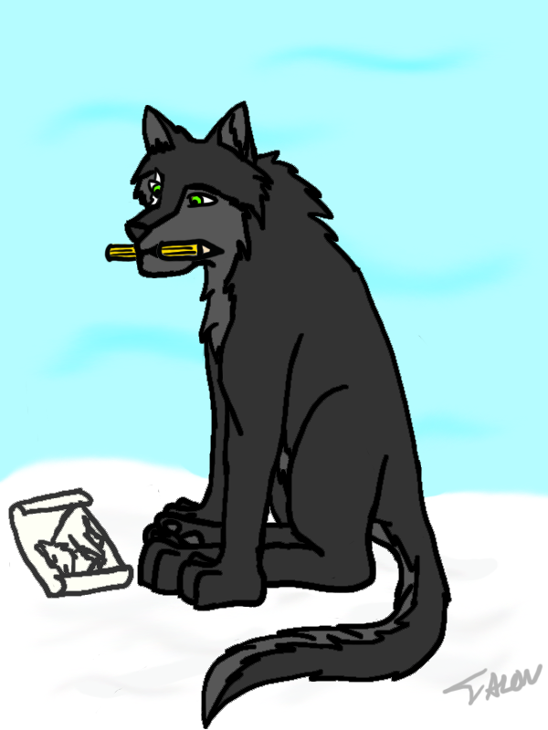 Got the idea from MoonFire! Talon_Drawing_by_ShadoWolfozo