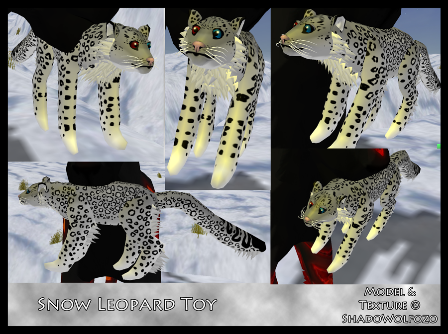 Snow Leopard Toy by ShadoWolfozo on DeviantArt