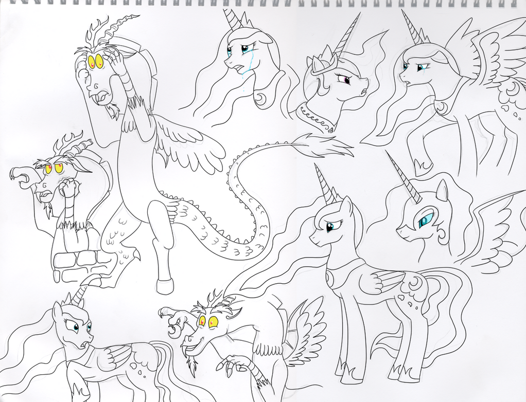 My little pony coloring pages nightmare moon - My Little Pony Coloring Pages Nightmare Moon Mlp Fim Discord Celestia Luna Nightmare Moon Prac