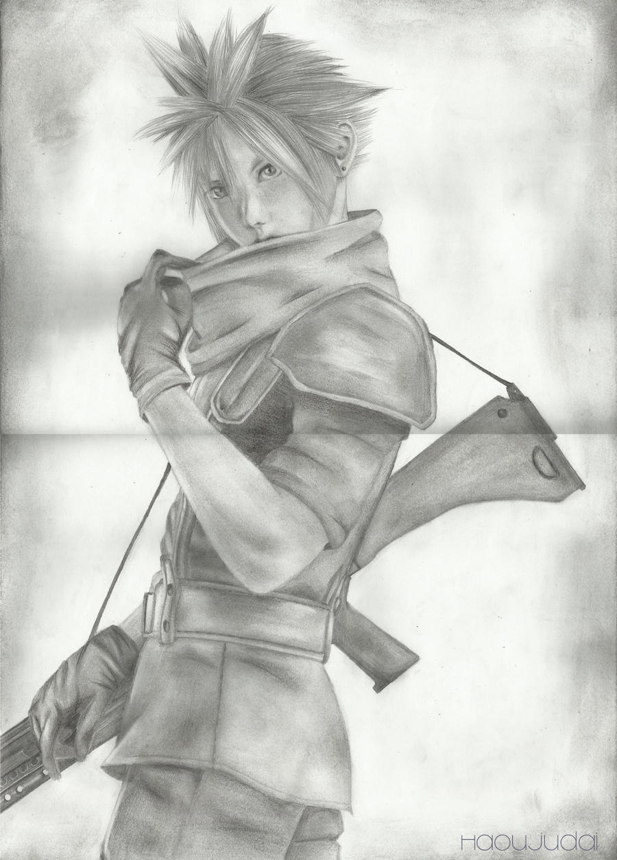 Cloud Strife: Fullbody by HaouJudai